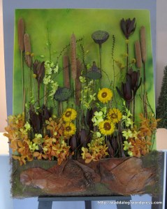 Mrs Ok Hee Song won 3rd place in the Decorative Flower and Garden Show, class 410 'My Masterpiece.'