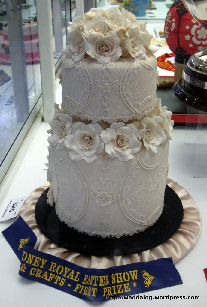 Ms Kathleen Swansbra won 1st  place in one of the cake decoration contests for her masterpiece.