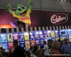 More from the Showbag Pavillion: Freddo Frog and Cadbury's