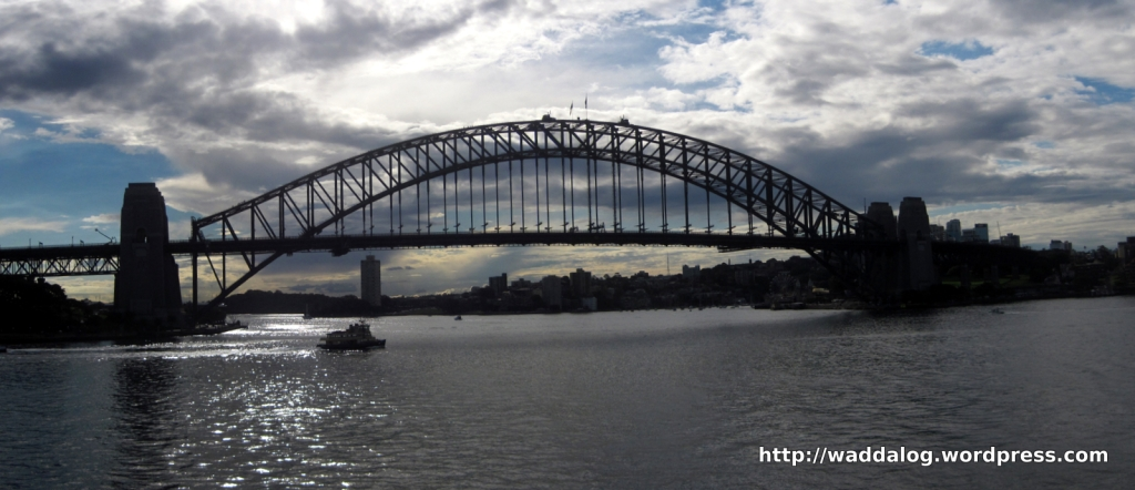 Harbour Bridge, as seen from the forecourt Sydney Opera House