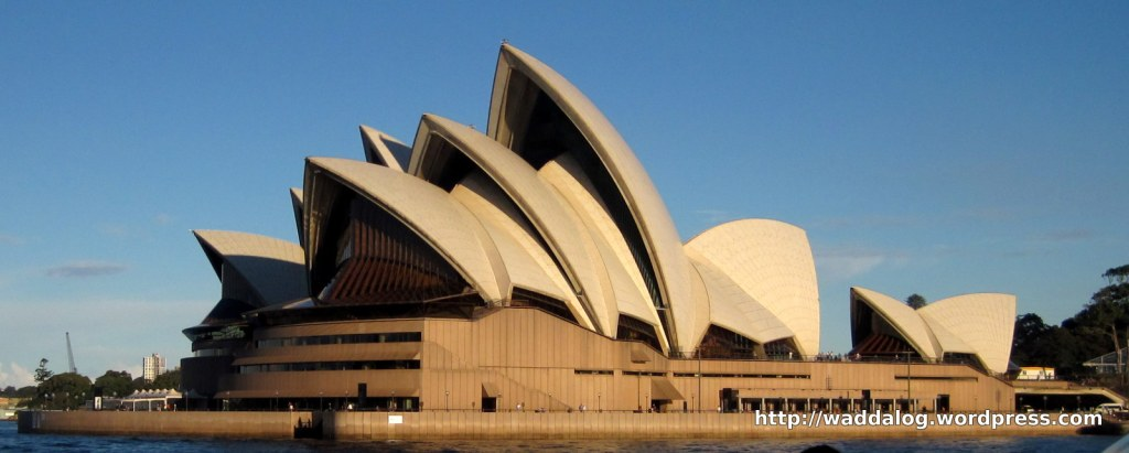 Sydney Opera House as seen from the deck of the ferry